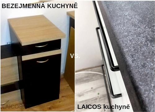 Srovnání LAICOS kuchyňských linek s dalšími levnými kuchyněmi